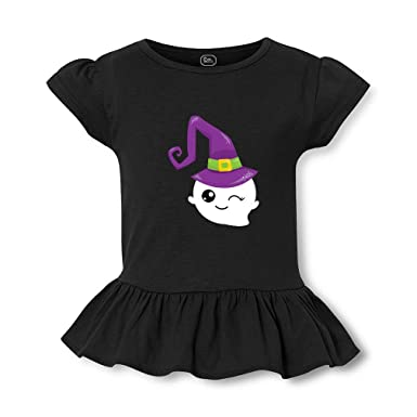 bd5a32dd0 Amazon.com: Ghost Witch Short Sleeve Toddler Cotton Girly T-Shirt Tee:  Clothing