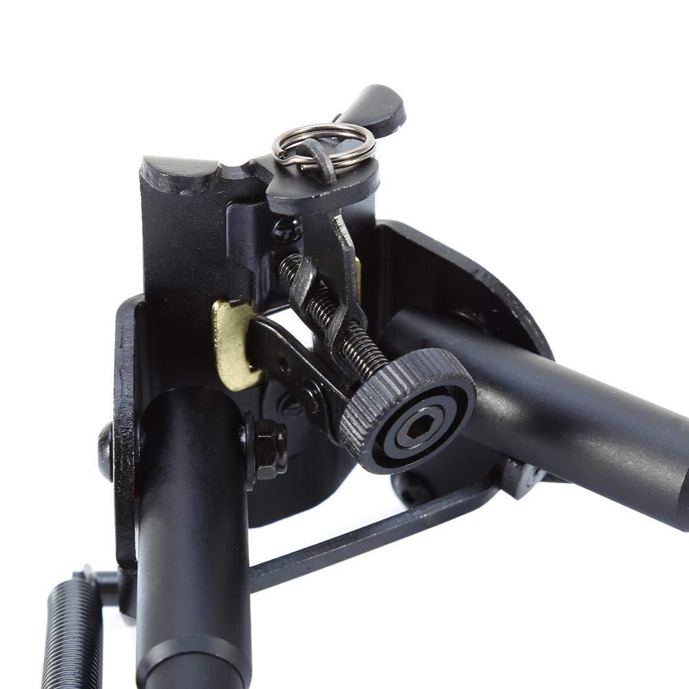 AYNEFY Bipiede Girevole 6-9 Pollici Tattico Bipiede Pistola ad Aria Compressa da Tiro Regolabile in Altezza Estensibile Estrema Precisione