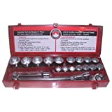 Canadian Tool and Supply 21 Piece 3/4-Inch Drive 12-point S.A.E. Ratchet Wrench and Socket Set (SSSRK2134)