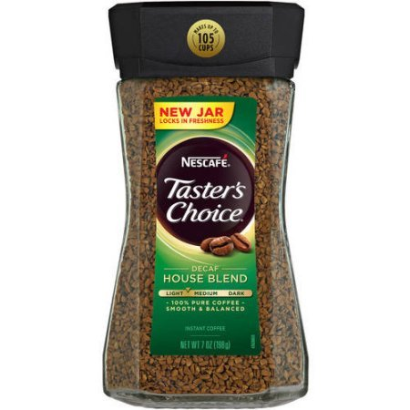 Nescafe Taster's Choice Instant Coffee Decaf House Blend, 7 oz (Pack of 6)