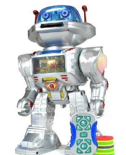 RC Ferngesteuert Robot, Spielzeug Roboter- Schüsse Frisbees, Tänze, Gespräche, Läuft, mit Geräusche und Lichter