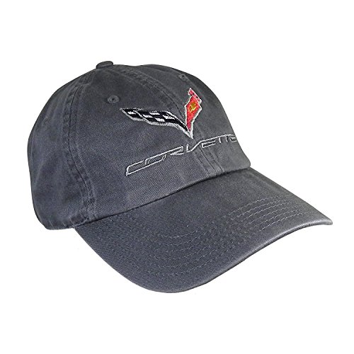 (C7 Corvette Logo - Premium Garment Washed Cap/Hat (Charcoal) )