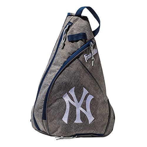 (Franklin Sports New York Yankees Slingback Baseball Crossbody Bag - Shoulder Bag w/Embroidered Logos - MLB Official Licensed Product)