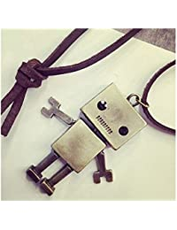 Vintage Robot Shape Leather Long Chain Statement Necklace gift for girl