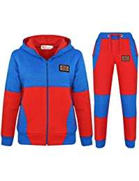 e8c8733209cd Kids Jogging Suit Boys Girls Designer s Tracksuit Zipped Top   Bottom 7-13  Years