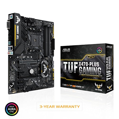 ASUS TUF X470-Plus Gaming AMD Ryzen 2 AM4 DDR4 HDMI DVI M.2 ATX Motherboard