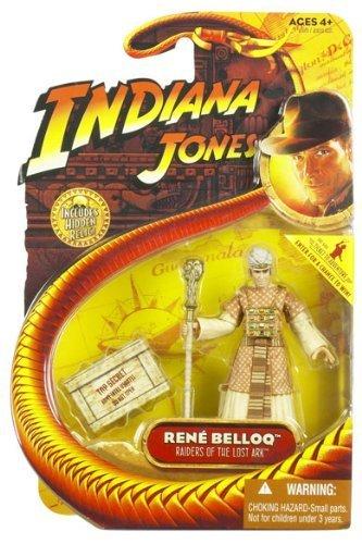 Indiana Jones Movie Hasbro Series 1 Action Figure Rene Belloq [Raiders of the Lost Ark] by HASBRO (English Manual)