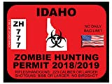 Idaho Zombie Hunting Permit(Bumper Sticker)