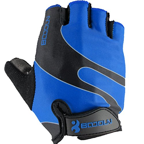 Cycling Gloves Mountain Bike Gloves Road Racing Bicycle Gloves for Summer Biking Mountain Biking Riding Gym Sports Foam Padded Breathable Half Finger Gloves Men Women Work Gloves