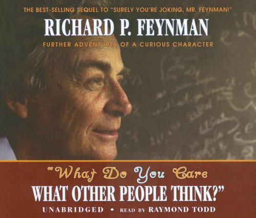 what do you care what other people think further adventures 読書