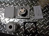 30 amp RV power inlet box, white
