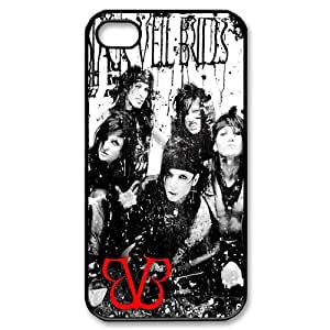 iPhone 4 4S Shell Case Cover Black Veil Brides BVB Andy Six With Other Band Members Protector hjbrhga1544