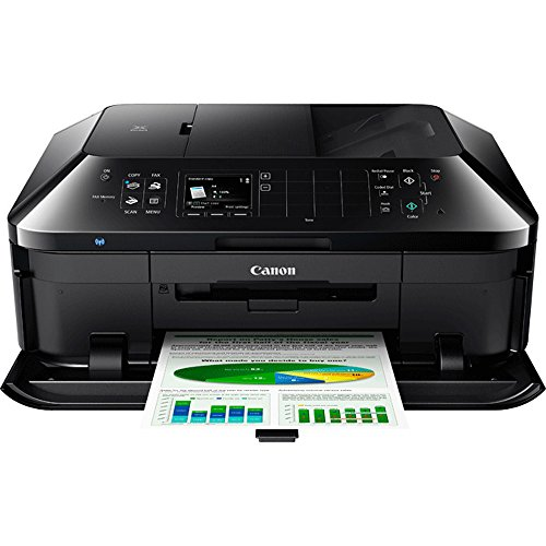 Canon PIXMA MX922 Wireless Inkjet Office All-In-One Printer + Canon Genuine PGI-250 BK,CLI-251,4 Inks + Printer Cable by Beach Camera (Image #1)