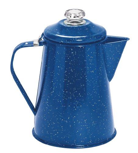 Cinsa 311355 Camp Ware Coffee Pot with Percolator, 2-Quart, Royal Speckled Blue
