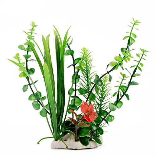 CNZ Aquarium Decor Fish Tank Decoration Ornament Artificial Plastic Plant Green 9