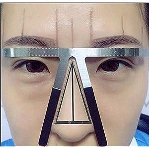 Eyebrow Caliper,Fheaven Three-Point Positioning Permanent Eyebrow Balance Ruler Eyebrow Shaper Template Stencil Ruler Makeup