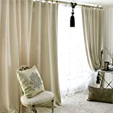 """IYUEGO Classic Solid Polyester Grommet Top Lining Blackout Curtains Draperies With Multi Size Custom 50"""" W x 84"""" L (One Panel)"""