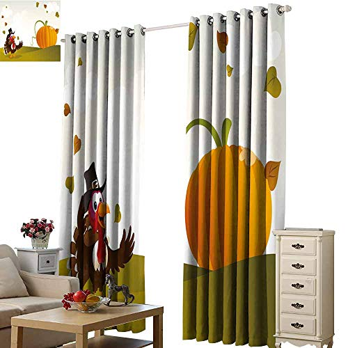 (S Brave Sky Drapes for Living Room,Single-Sided Printing Pattern W120 xL108,Suitable for Bedroom Living Room Study, etc.)