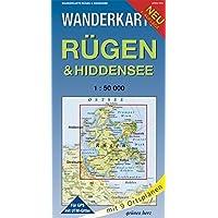 Wanderkarte Rügen & Hiddensee: Mit Stralsund. Mit Ortsplänen von Baabe, Bergen, Binz, Garz, Göhren, Putbus, Sassnitz, Sellin, Thiessow. Mit UTM-Gitter ... Maßstab 1:50.000. (Wanderkarten 1:50.000)