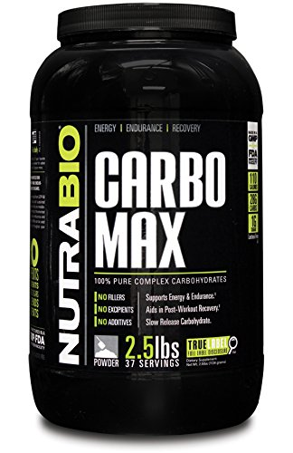 NutraBio CarboMax (2.5 Pounds) – Unflavored Carbohydrate Powder