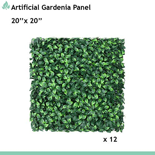 """SunnyRoyal 20"""" x 20"""" Artificial Boxwood Panels Pivacy Ivy Fence Screen Greenery Garden Fencing for Ourdoor Indoor Backyard Fence Decoration, 12 Pics from SunnyRoyal"""
