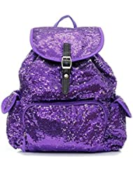 Sequin Fashion Backpack in Pretty Purple