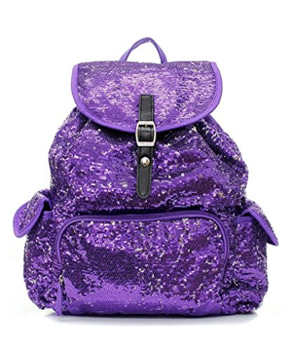 Sequin Fashion Backpack in Pretty Purple