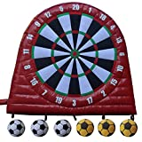 Outdoor PVC Tarpaulin Inflatable Soccer Darts Board with 6pcs Inflatable Soccer Ball for Sports Game(10X10ft)