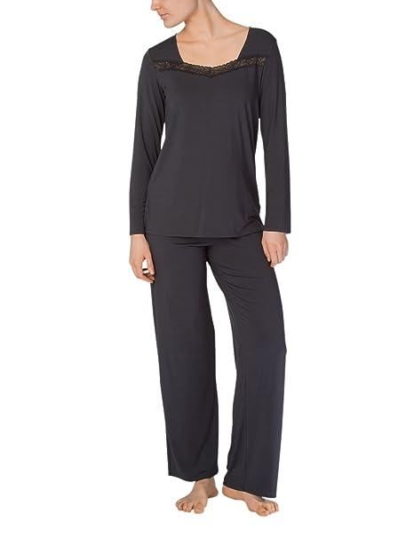Calida Eliza, Conjuntos de Pijama para Mujer, Negro (Phantom 998), 42