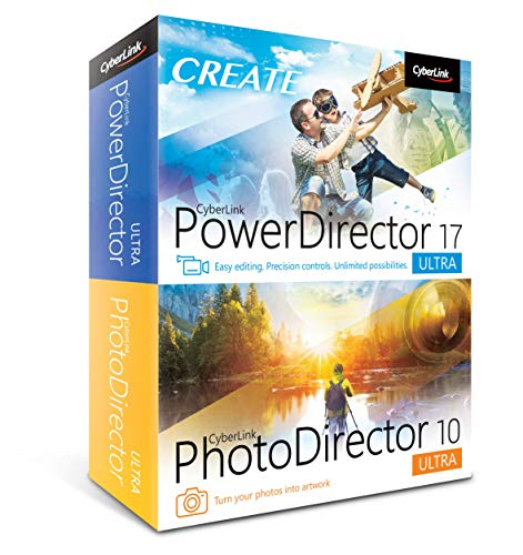 Cyberlink PowerDirector 17 and PhotoDirector 10 Ultra (Windows Video Editing Software)
