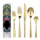 Flatware Set 5 Piece Stainless Steel Dinner Knife,spoon,fork,salad Fork,tea Spoon More Options Nice Feel