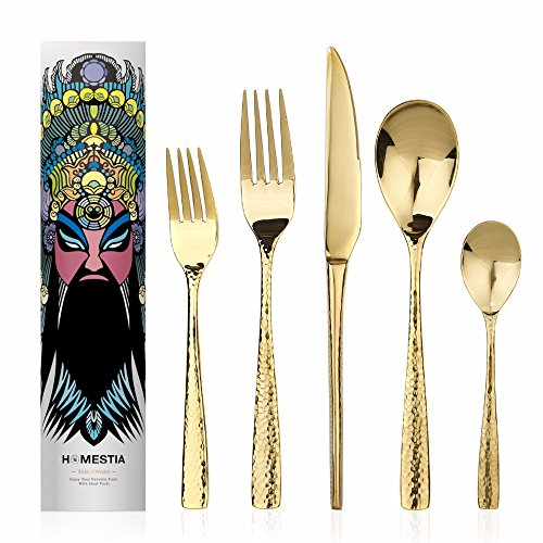 Flatware Set 5 Piece Stainless Steel Dinner Knife,spoon,fork,salad Fork,tea Spoon More Options Nice Feel by Flatware Sets
