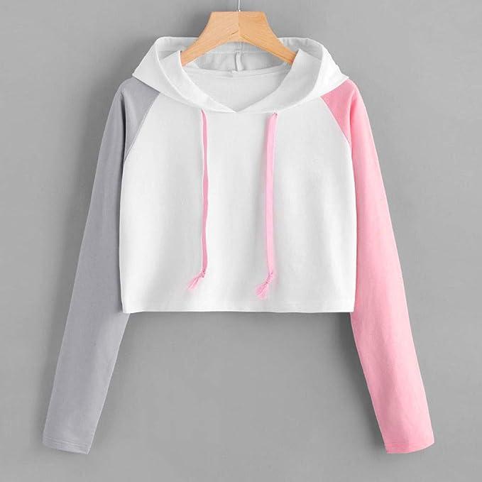 Amazon.com: St.Dona_Women Top Womens Casual Long Sleeve Hoodie Raglan Sweatshirt Hooded Pullover Tops Blouse: Clothing
