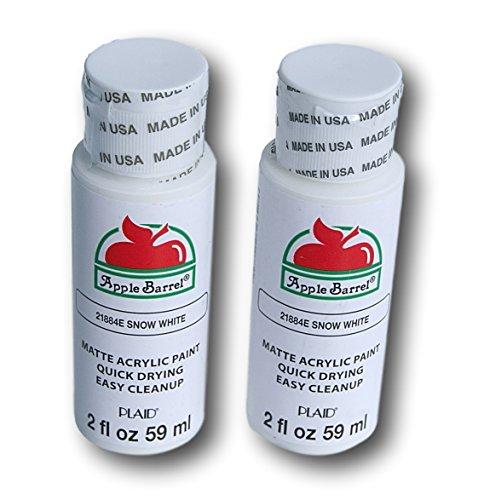 Apple Barrel Acrylic Paint Set - Snow White (2 Ounces Each) -  Plaid Enterprises Inc, 367967