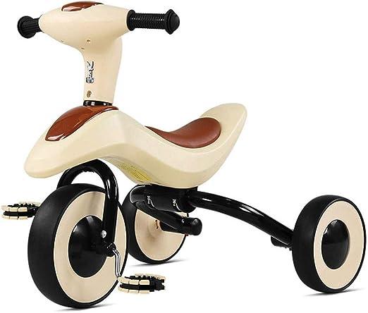 Xing Hua Home Sillas de Paseo Bicicleta para Niños Bicicleta Triciclo Casero para Niños Bicicleta para Bebés De 1 A 3 Años Rueda Silenciosa Carga 25 Kg (Color : Brown, Size : 64 * 52.5 * 39cm): Amazon.es: Hogar