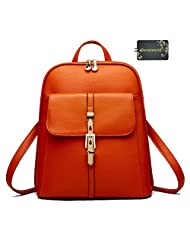 Donalworld Women School Lovely Campus Style Backpack Manmade Leather Shoulder Bag
