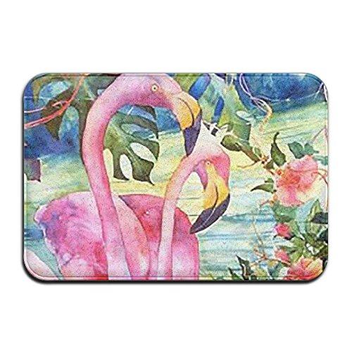 BINGO BAG Pink Flamingos Indoor Outdoor Entrance Printed Rug Floor Mats Shoe Scraper Doormat For Bathroom, Kitchen, Balcony, Etc 16 X 24 Inch by BINGO BAG