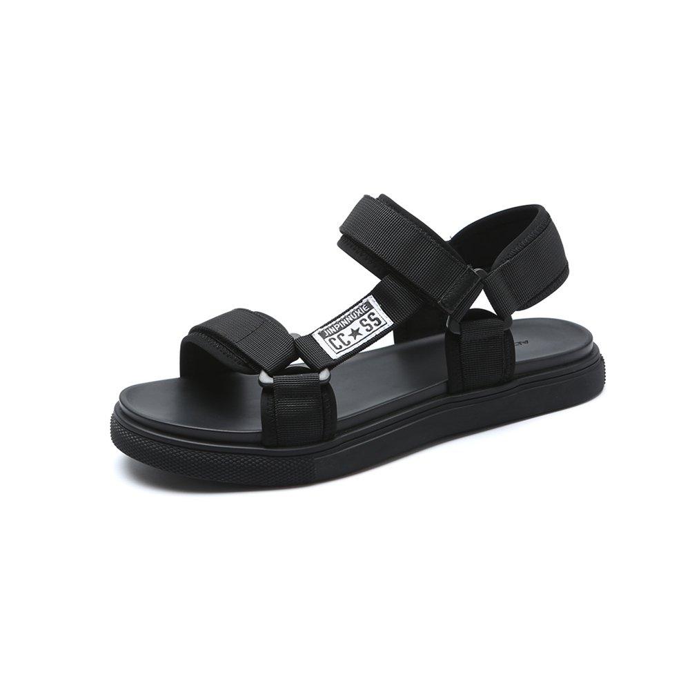 YQQ Lässige Schuhe Sandalen Strandschuhe Reise Schuhe Männliche Sommer- Schuhe Ferienschuhe Männer Schuhe Sommer- Männliche Junge Gemütlich Rutschfest Hausschuhe (Farbe : Schwarz, Größe : EU39/UK6) Schwarz 1e54e4