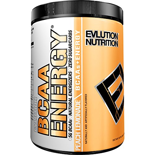 Evlution Nutrition BCAA Energy - Energizing Amino Acid for Muscle Building Recovery and Endurance, 30 Servings (Peach Lemonade)