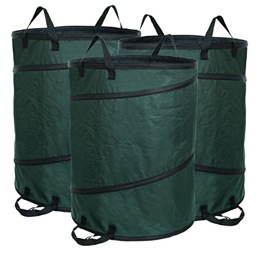 Songmics 3er Set Pop-up Gartensack 160L aus 420D Oxford GTS160L