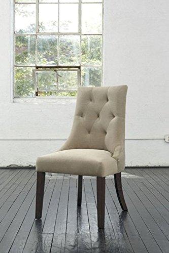Ashley Furniture Signature Design Mestler Dining Uph Side Chair  Light Brown  Set Of 2  Regular  Upholstered Seat