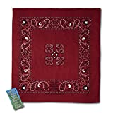 Insect Shield Bandana, Dark Red, One Size