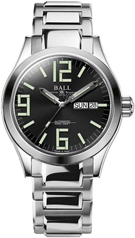 Reloj Automático Ball Engineer II Genesis, Ball RR1102, Negro, 40mm, Brazalete