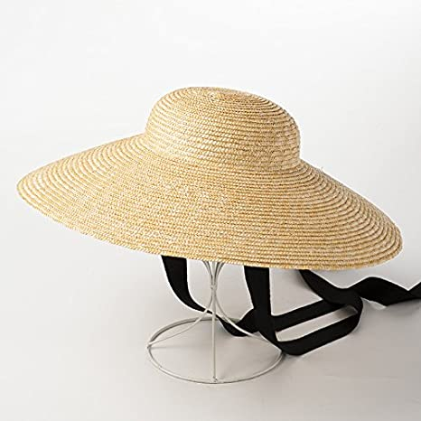 Amazon.com  ALWLj Wide Brim Sun Hat For Women Summer Beach Straw ... 1499ebf0b04