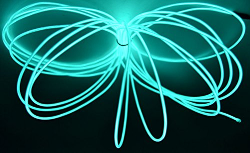 GlowCity 2.6mm 30FT Light Up El Wire Kits (Aqua)