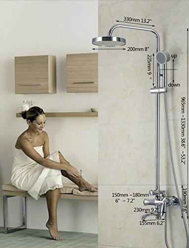 GOWE Luxury Wall Mount Tub Faucet with Hand Shower Chrome Finish Shower set 1