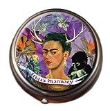 Frida's Pharmacy Frida Kahlo Pill Box - Compact 1 or 2 Compartment Medicine Case