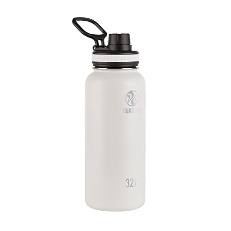 f1b90b0fbb Amazon.com: Takeya 50012 Originals Vacuum-Insulated Stainless-Steel Water  Bottle, 32oz, White, 32 oz,: Kitchen & Dining