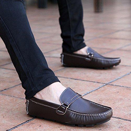 Hombres Eu39 color Los Cuero Muma Tamaño 5 Ocio uk6 Brown La Zapatos Del De Manera cn40 Negro BqT4A