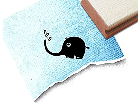 20 x 20 mm Kartengestaltung Basteln Motivstempel  Elefant Stempel ca